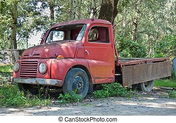 oude vrachtwagen, tijdopnemer