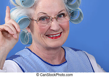 oude vrouw, walzen