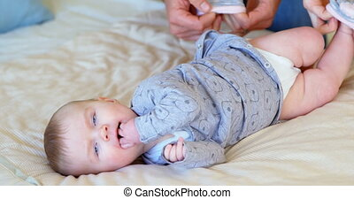 ouders, hun, kousjes, tho, baby, 4k, vervelend