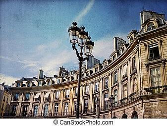 ouderwets, gebouw, in, europa