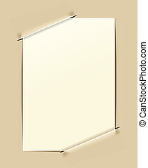 ouderwets, papier, frame