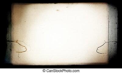 ouderwetse , 8 mm, film, het knipperen, frame.