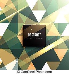 ouderwetse , abstract, achtergrond, geometrisch, glanzend, driehoeken