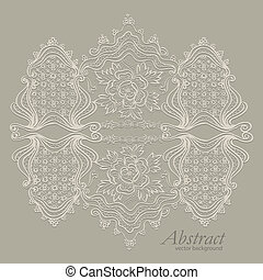 ouderwetse , abstract, ornament, textiel, elegant, vector, achtergrond