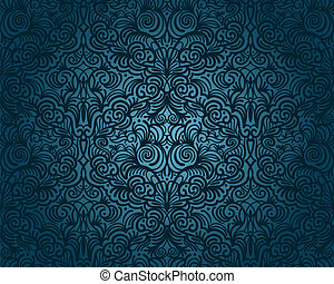 ouderwetse , abstract, seamless, model, vector, floral