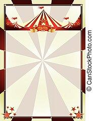 ouderwetse , achtergrond, circus, sunbeams