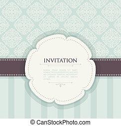 ouderwetse , achtergrond, uitnodiging