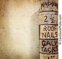 ouderwetse , achtergrond, workshop