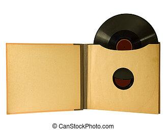 ouderwetse , album, met, verslag