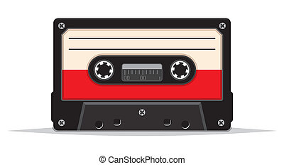 ouderwetse , audio, cassette, op einde