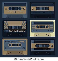 ouderwetse , audiocassettes, koel