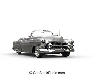 ouderwetse , -, auto, voorkant, koel, zilver, aanzicht