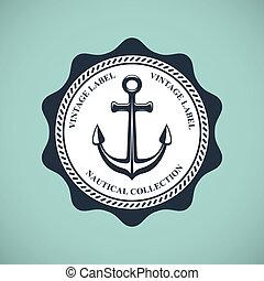 ouderwetse , badge, nautisch