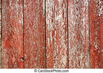 ouderwetse , barnwood, rode achtergrond