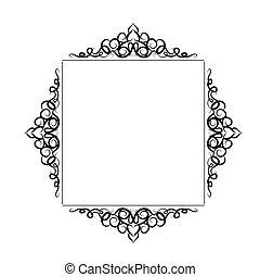 ouderwetse , barok, frame