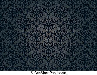 ouderwetse , behang, zwarte achtergrond