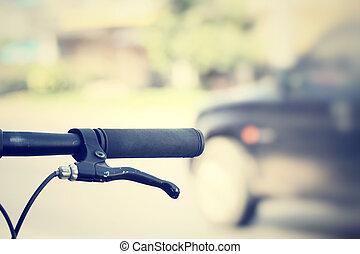 ouderwetse , bicycle.