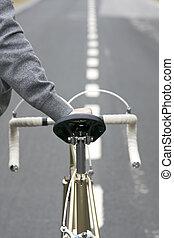 ouderwetse , bike passagier