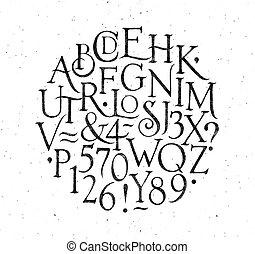 ouderwetse , black , alfabet