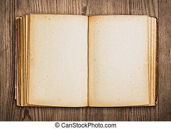 ouderwetse , boek, open