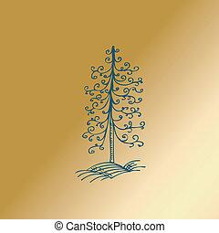 ouderwetse , boompje, kerstmis