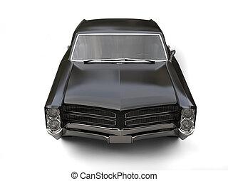 ouderwetse , bovenzijde, -, glad, dons, black , auto, vooraanzicht
