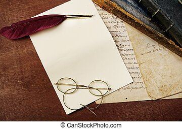 ouderwetse , brief, concept
