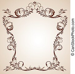ouderwetse , bruine , frame