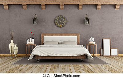 Bruine , ligbad, mode, slaapkamer. Vertolking, ligbad ...