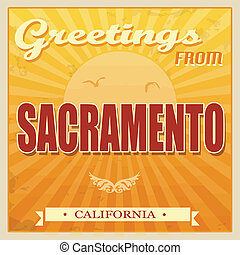 ouderwetse , californië, sacramento, poster