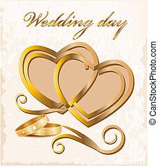 ouderwetse , card., trouwfeest