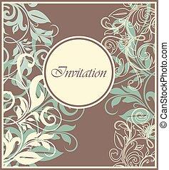 ouderwetse , card., uitnodiging