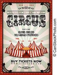 ouderwetse , circus, achtergrond