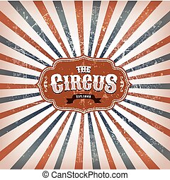 ouderwetse , circus, achtergrond, met, sunbeams