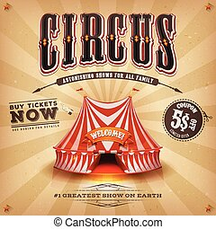 ouderwetse , circus, poster