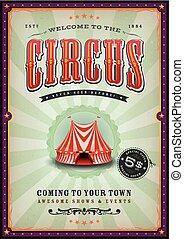 ouderwetse , circus, poster, met, sunbeams
