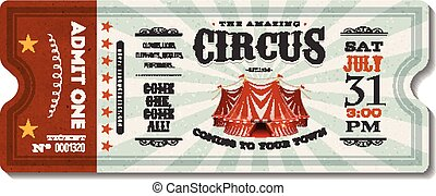 ouderwetse , circus, ticket