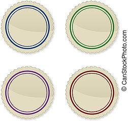 ouderwetse , cirkel, set, postzegels
