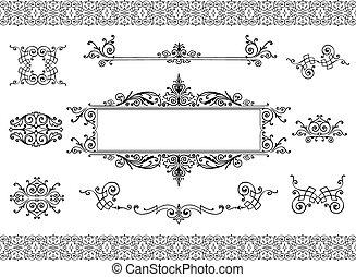 ouderwetse , communie, ontwerp, ornament