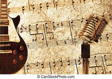 ouderwetse , concept, muziek