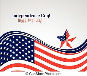 ouderwetse , dag, onafhankelijkheid, poster