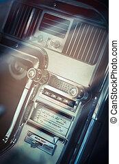 ouderwetse , dashboard, auto