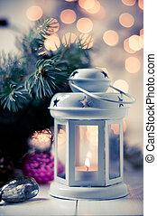 ouderwetse , decor, kerstmis