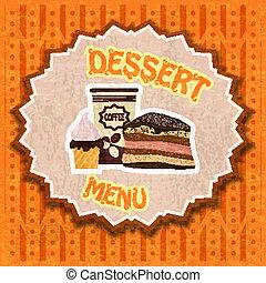 ouderwetse , dessert, menu