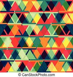 ouderwetse , driehoek, seamless, textuur