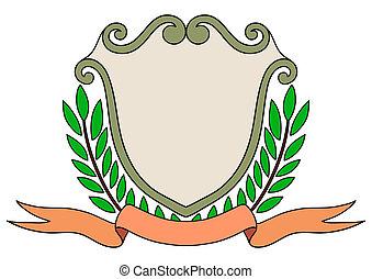ouderwetse , embleem, badge