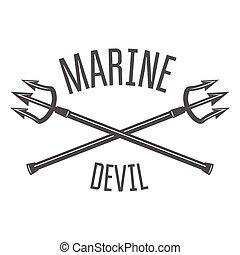 ouderwetse , etiket, retro, mal, nautisch, logo, badge