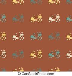 ouderwetse , fiets, pattern., seamless