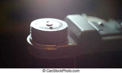 ouderwetse , film, op einde, fototoestel