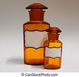 ouderwetse , flessen, apotheek